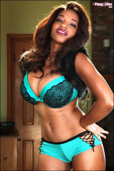 Andrea Marquez Latina Shows Natural Big Boobs