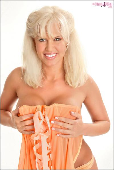 LaTasha Marzolla Busty Blonde Lingerie Glamour