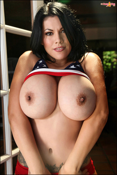 Ana Rica Pays Big Boob Tribute to Stars and Stripes